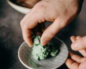 wasabi, jengibre, soja